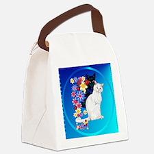 Black N White Garden Kittiese-2-c Canvas Lunch Bag