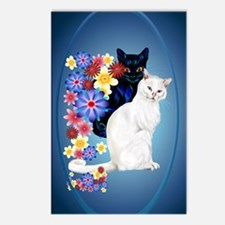 OvalJewel2000Black and Wh Postcards (Package of 8)