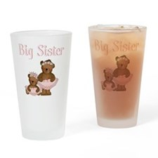 big sister ballet bears Drinking Glass