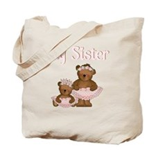 big sister ballet bears Tote Bag
