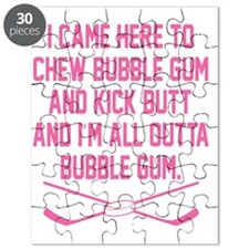 Kick Butt Girls Hockey Puzzle
