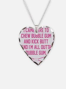 Kick Butt Girls Hockey Necklace Heart Charm