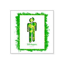 """shifthappensboarder01 Square Sticker 3"""" x 3"""""""