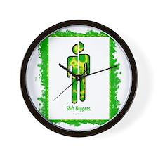 shifthappensboarder01 Wall Clock