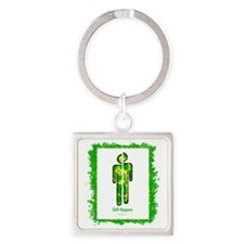 shifthappensboarder01 Square Keychain