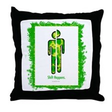 shifthappensboarder01 Throw Pillow