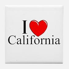 """""""I Love California"""" Tile Coaster"""