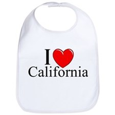 """I Love California"" Bib"