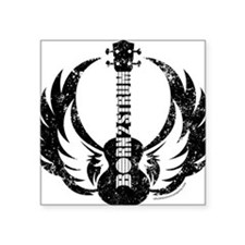 "Born 2 Strum Ukulele Square Sticker 3"" x 3"""