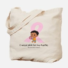 i-wear-pink-for-my-auntie-boxing Tote Bag
