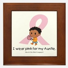 i-wear-pink-for-my-auntie-boxing Framed Tile