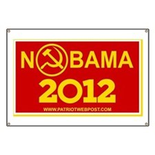 Nobama 2012 Communist Logo 6x10 Banner