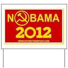 Nobama 2012 Communist Logo 6x10 Yard Sign