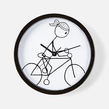 biker5.gif Wall Clock