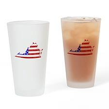 Virginia Flag Drinking Glass