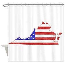 Virginia Flag Shower Curtain