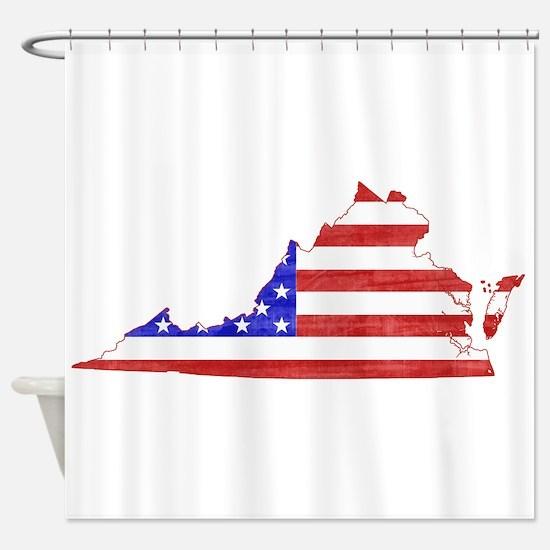 Virginia Flag Shower Curtain
