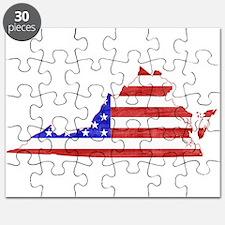 Virginia Flag Puzzle