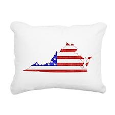 Virginia Flag Rectangular Canvas Pillow