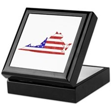Virginia Flag Keepsake Box