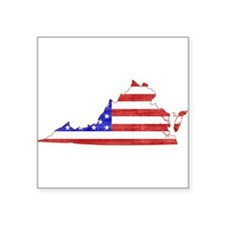 "Virginia Flag Square Sticker 3"" x 3"""