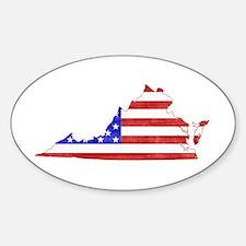 Virginia Flag Sticker (Oval)