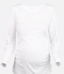Plain blank Long Sleeve Maternity T-Shirt