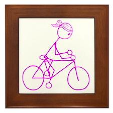 biker pink.gif Framed Tile