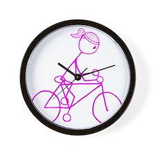 biker pink.gif Wall Clock