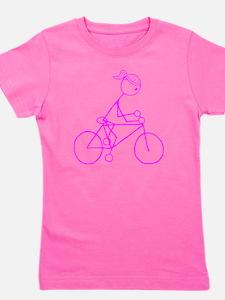 biker pink.gif Girl's Tee