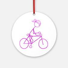 biker pink.gif Round Ornament