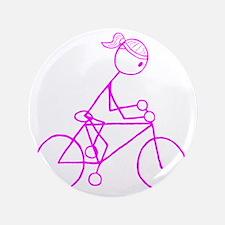 "biker pink.gif 3.5"" Button"