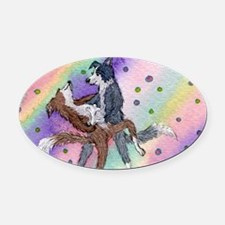 ballroom dancing dog Oval Car Magnet