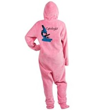 Cytologist Blue Microscope Footed Pajamas