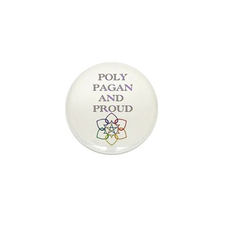 Poly Pagan and proud 2 Mini Button (10 pack)