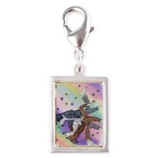no dog could equal her passi Silver Portrait Charm