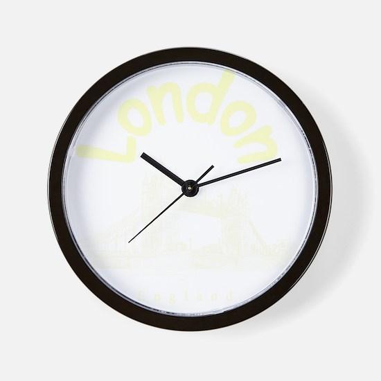 London_10x10_apparel_TowerBridge_Cream Wall Clock