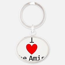 amishjpg Oval Keychain