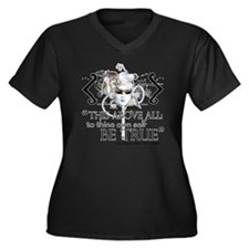 hamlet3 Women's Plus Size Dark V-Neck T-Shirt