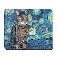 5x7HStarey NightCat Mousepad