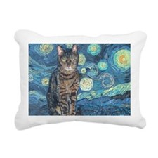 5x7HStarey NightCat Rectangular Canvas Pillow