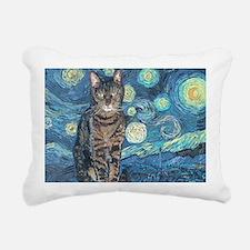 5x7HStarey NightCat Rectangular Canvas Pillow