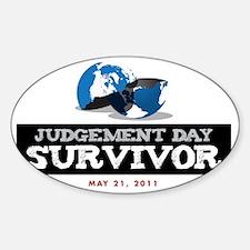 JudgementDaySurvivorRed Sticker (Oval)