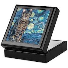 8x10Starey NightCat Keepsake Box