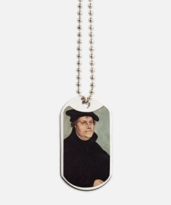 Luther by Cranach 2 Keychain Dog Tags
