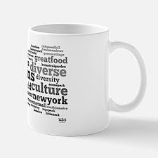 Queens Wordle with logo Mug