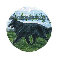 bel shep fence Round Ornament