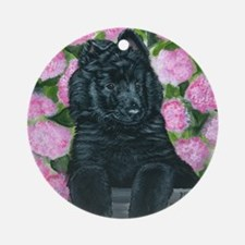 bel shep flower baby Round Ornament