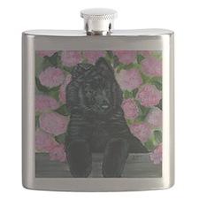 bel shep flower baby Flask