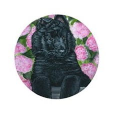 "bel shep flower baby 3.5"" Button"